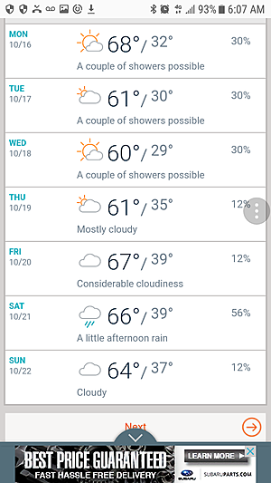 Kell West Weather Phone App